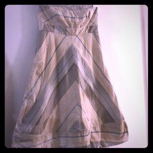 Striped Strapless Nude Gap Dress Size 0